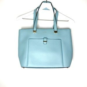 Kate Spade Powder Blue Shoulder Bag Tote Purse